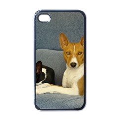 2 Basenjis Apple Iphone 4 Case (black)