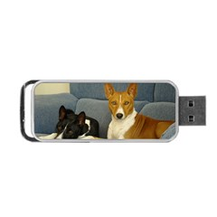 2 Basenjis Portable Usb Flash (one Side)