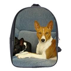 2 Basenjis School Bag (xl)