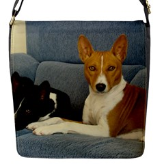 2 Basenjis Flap Messenger Bag (s)
