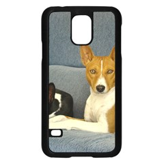 2 Basenjis Samsung Galaxy S5 Case (black)
