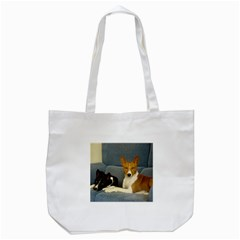 2 Basenjis Tote Bag (white)