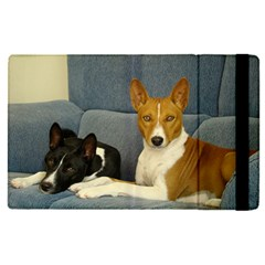 2 Basenjis Apple Ipad Pro 9 7   Flip Case