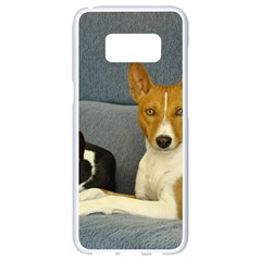 2 Basenjis Samsung Galaxy S8 White Seamless Case