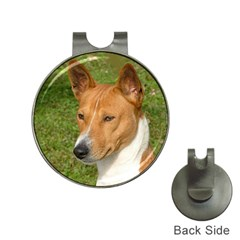 Basenji 2 Hat Clips With Golf Markers