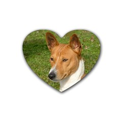 Basenji 2 Rubber Coaster (heart)