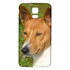 Basenji 2 Samsung Galaxy S5 Back Case (white)