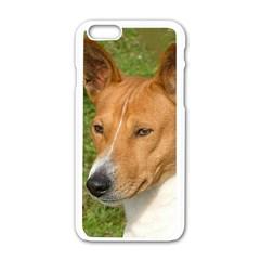 Basenji 2 Apple Iphone 6/6s White Enamel Case