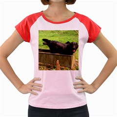 2 Full Flat Coated Retriever Women s Cap Sleeve T Shirt