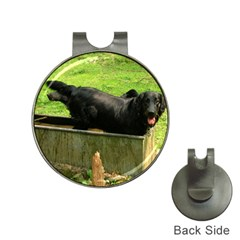 2 Full Flat Coated Retriever Hat Clips With Golf Markers