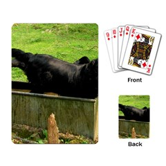 2 Full Flat Coated Retriever Playing Card
