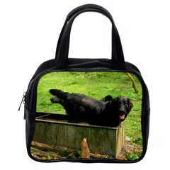 2 Full Flat Coated Retriever Classic Handbags (one Side)