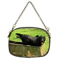 2 Full Flat Coated Retriever Chain Purses (two Sides)