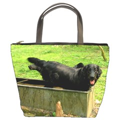 2 Full Flat Coated Retriever Bucket Bags