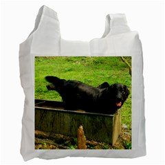 2 Full Flat Coated Retriever Recycle Bag (one Side)