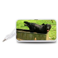 2 Full Flat Coated Retriever Portable Speaker (white)