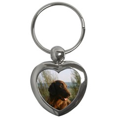 Flat Coated Retriever Key Chains (heart)