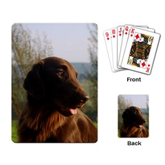 Flat Coated Retriever Playing Card