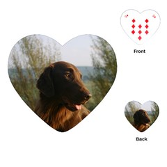 Flat Coated Retriever Playing Cards (heart)