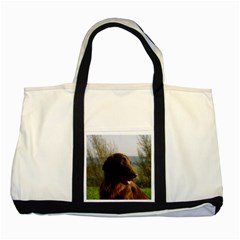 Flat Coated Retriever Two Tone Tote Bag