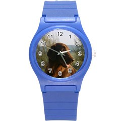 Flat Coated Retriever Round Plastic Sport Watch (s)
