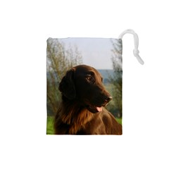 Flat Coated Retriever Drawstring Pouches (small)