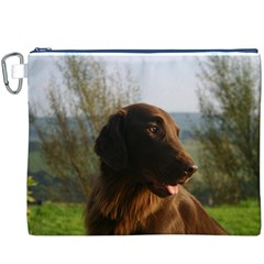 Flat Coated Retriever Canvas Cosmetic Bag (xxxl)