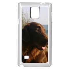 Flat Coated Retriever Samsung Galaxy Note 4 Case (white)