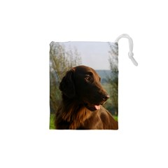 Flat Coated Retriever Drawstring Pouches (xs)