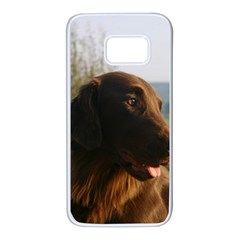 Flat Coated Retriever Samsung Galaxy S7 White Seamless Case