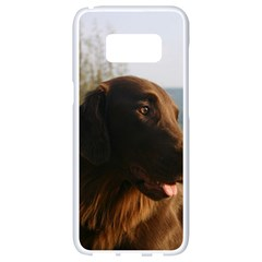 Flat Coated Retriever Samsung Galaxy S8 White Seamless Case