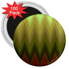 Zig Zag Chevron Classic Pattern 3  Magnets (100 Pack)