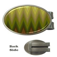 Zig Zag Chevron Classic Pattern Money Clips (oval)