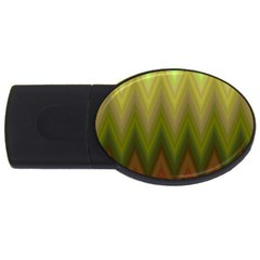 Zig Zag Chevron Classic Pattern Usb Flash Drive Oval (2 Gb)