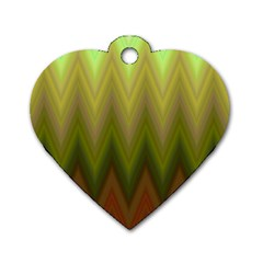 Zig Zag Chevron Classic Pattern Dog Tag Heart (two Sides)
