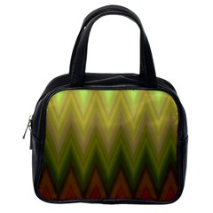 Zig Zag Chevron Classic Pattern Classic Handbags (one Side)