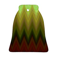 Zig Zag Chevron Classic Pattern Bell Ornament (two Sides)