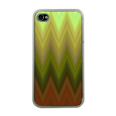Zig Zag Chevron Classic Pattern Apple Iphone 4 Case (clear)