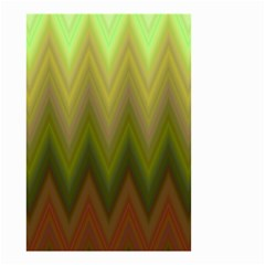 Zig Zag Chevron Classic Pattern Small Garden Flag (two Sides)