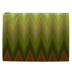 Zig Zag Chevron Classic Pattern Cosmetic Bag (xxl)