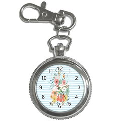Watercolor Bouquet Floral White Key Chain Watches
