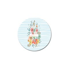 Watercolor Bouquet Floral White Golf Ball Marker (10 Pack)