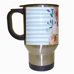 Watercolor Bouquet Floral White Travel Mugs (white)