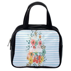 Watercolor Bouquet Floral White Classic Handbags (one Side)