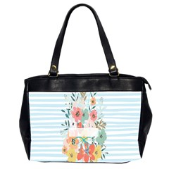 Watercolor Bouquet Floral White Office Handbags (2 Sides)