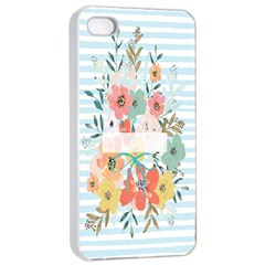 Watercolor Bouquet Floral White Apple Iphone 4/4s Seamless Case (white)
