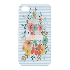 Watercolor Bouquet Floral White Apple Iphone 4/4s Hardshell Case