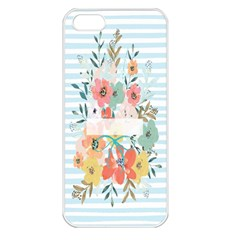 Watercolor Bouquet Floral White Apple Iphone 5 Seamless Case (white)