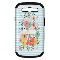 Watercolor Bouquet Floral White Samsung Galaxy S Iii Hardshell Case (pc+silicone)