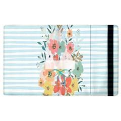 Watercolor Bouquet Floral White Apple Ipad 2 Flip Case